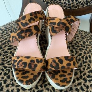 Shoes - Size 9, leopard wedge